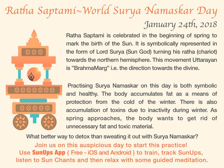 24th January is World Surya Namaskar Day! This post explains the significance of performing Sun Salutations on this day! Anybody planning to perform 108 on this day? I use the SunUps app to track my Sun Salutations using the proximity sensor! http://ift.tt/2BjWeZb