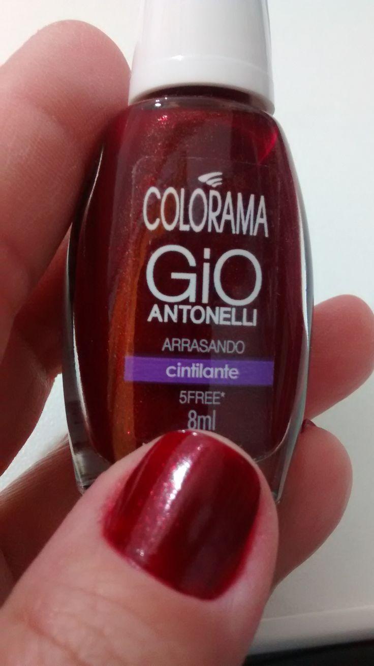 Post do dia: Esmalte Colorama: Arrasando - Coleção Gio Antonelli. #coloramaarrasando