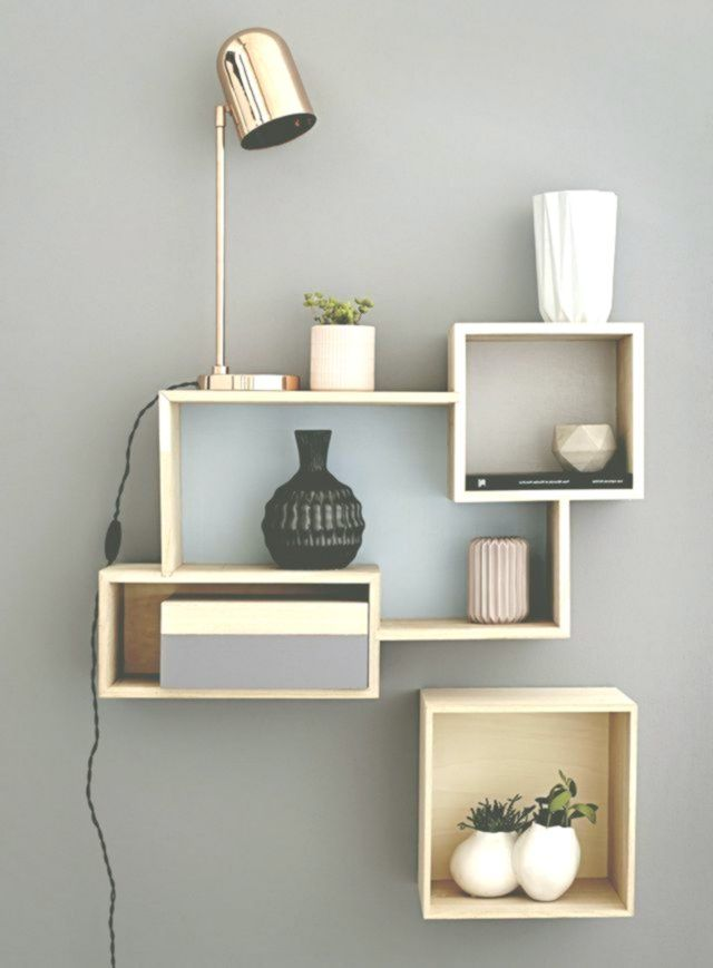 Mensola a muro di design per il soggiorno – Decorazione ...
