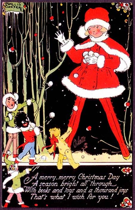 ¤ Phyllis Cooper postcard (1895-1988) Christmas postcard