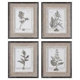 Ботанический подставил Печать (набор из 4)