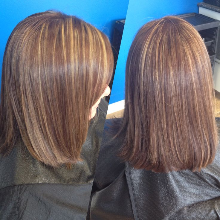 Partial highlights with a golden brown | Hair by Megan ...