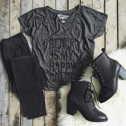 Black Happy color