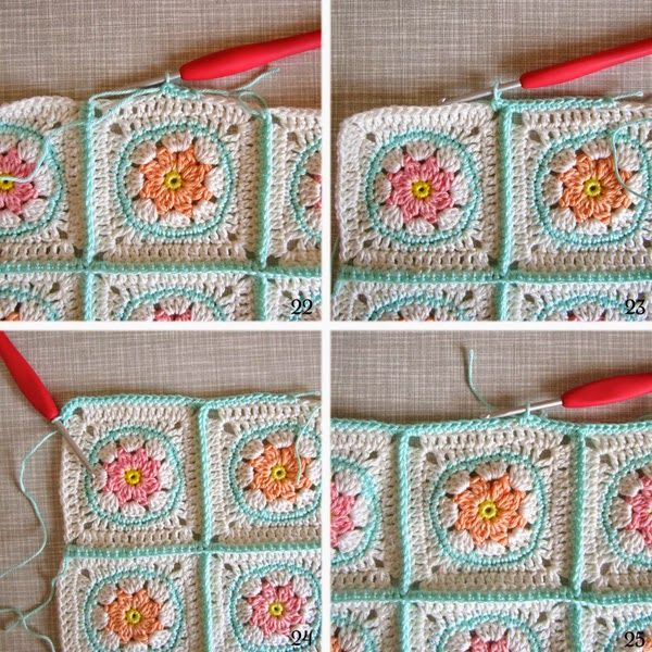 Color 'n Cream Crochet and Dream: Mastering The Basics: Joining Solid Squares