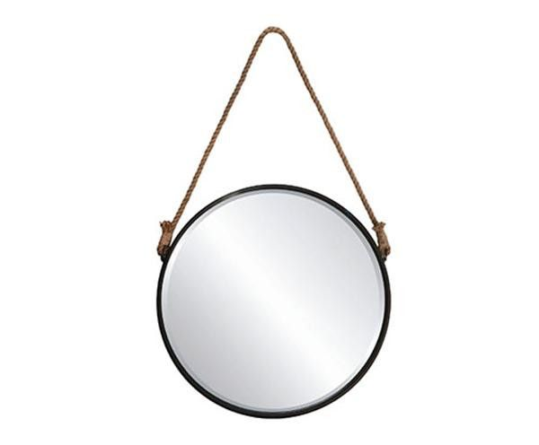 Round Hanging Mirror with Rope only at Complete Pad ®