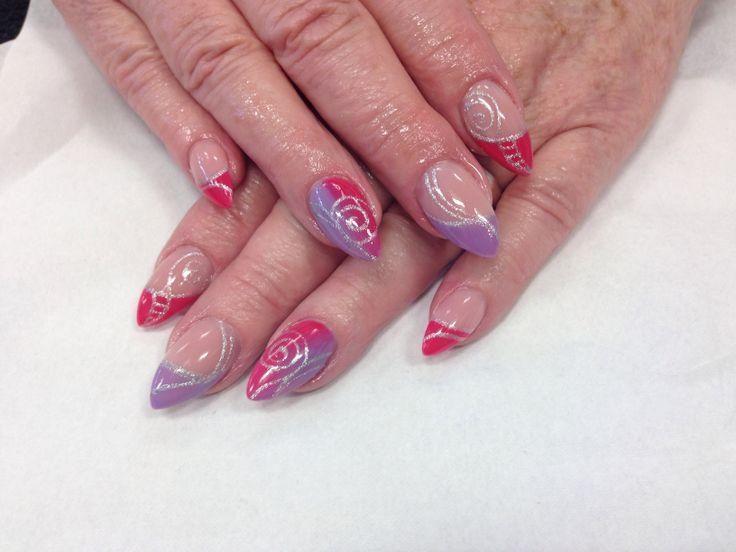 Salon design nails using go colour by nsi x