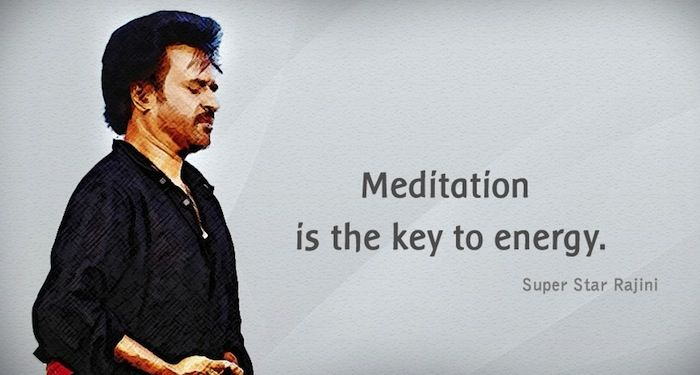 """Meditation is the key to energy. - Rajinikanth""   - Unlock your potential with Meditation..."