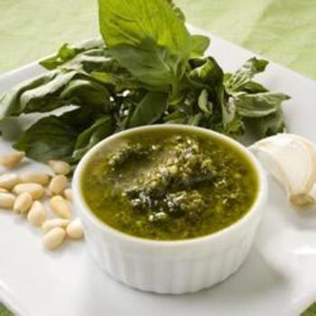 Simple Garlic and Basil Pesto: Foodie, Sauces, Simple Garlic, Cooking, Pesto Recipe, Basil Pesto, Allrecipes Com