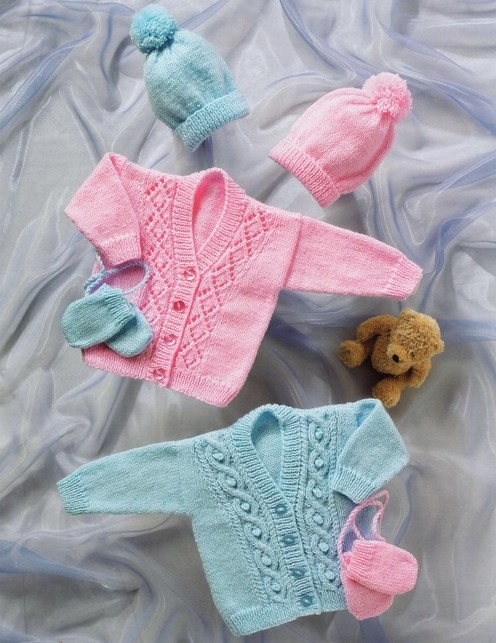 PATTERNFISH - Cardigans, Hat and Mittens (birth to age 3)