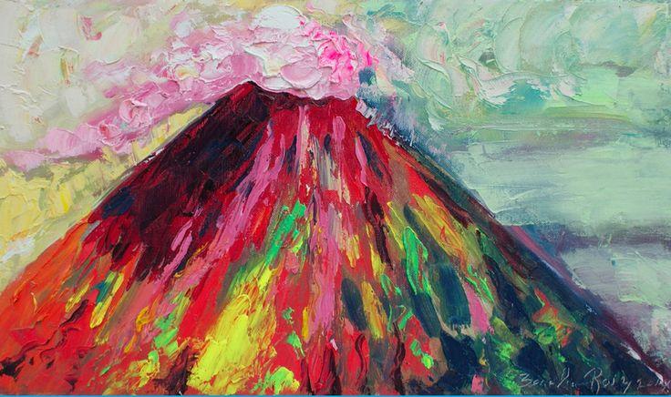El Volcán San Cristóbal - parte  de la  colección VOLCÁNICA Óleo51x28cm Autor Zenelia Roiz Nicaragua $900  http://zeneliaroizs.wixsite.com/misitio El Volcán San Cristóbal es el volcán más alto de Nicaragua. Se ubica en el noroeste del país, y hace una linda escena para los habitantes del municipio de Chichigalpa, Chinandega.  Elevación: 1.745 m Última erupción: 2008 Prominencia: 1.665 m Cordillera: Sierra de la Virgen, Cordillera Los Maribios