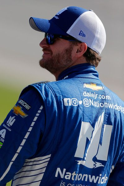 Dale Earnhardt Jr. Photos Photos - Dale Earnhardt Jr., driver of the #88 Nationwide Chevrolet, stands on the grid during qualifying for the Monster Energy NASCAR Cup Series GEICO 500 at Talladega Superspeedway on May 6, 2017 in Talladega, Alabama. - Talladega Superspeedway - Day 2