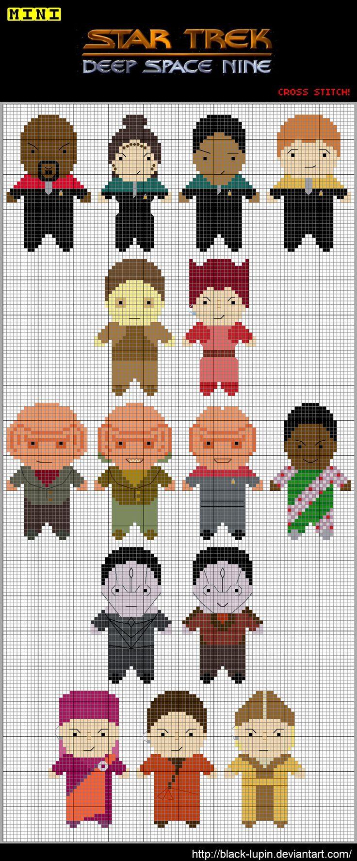 Star Trek DS9 Cross Stitch by *black-lupin on deviantART