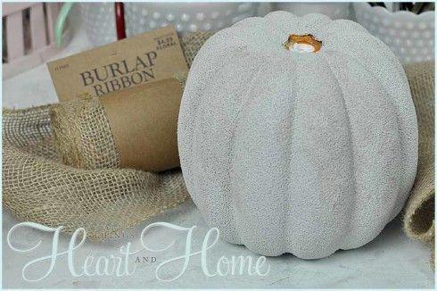 Burlap Pumpkin Decor Craft!