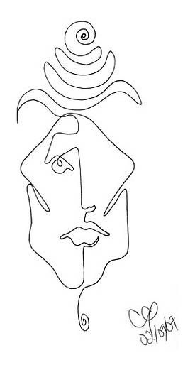 Picasso Line Drawing Face : Best images about art single line drawings on