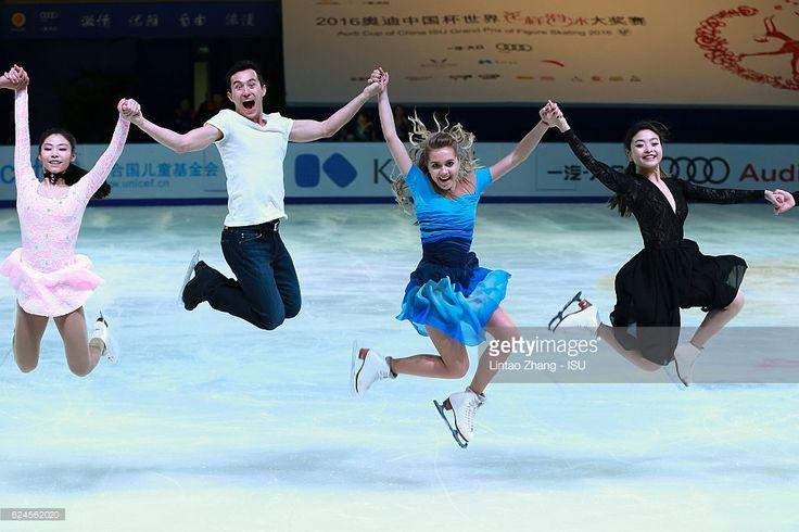 News Photo : Yu Xiaoyu of China, Patrick Chan of Canada, Elena...