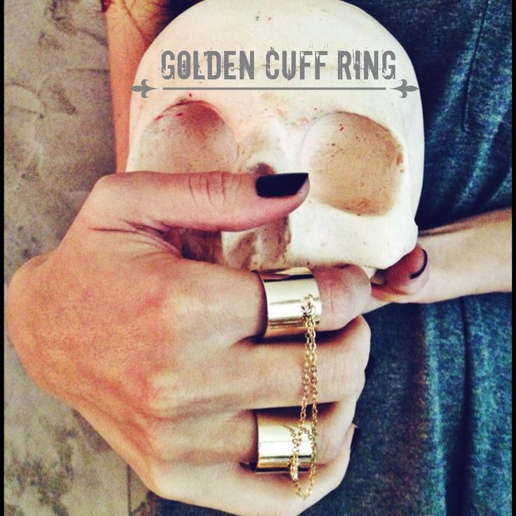 Golden Cuff Rings