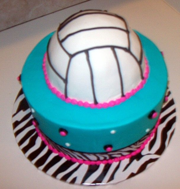 girls birthday cake volleyball | Of Pin Volleyball Party Ideas Cakes And Cupcakes Cake On Pinterest ...