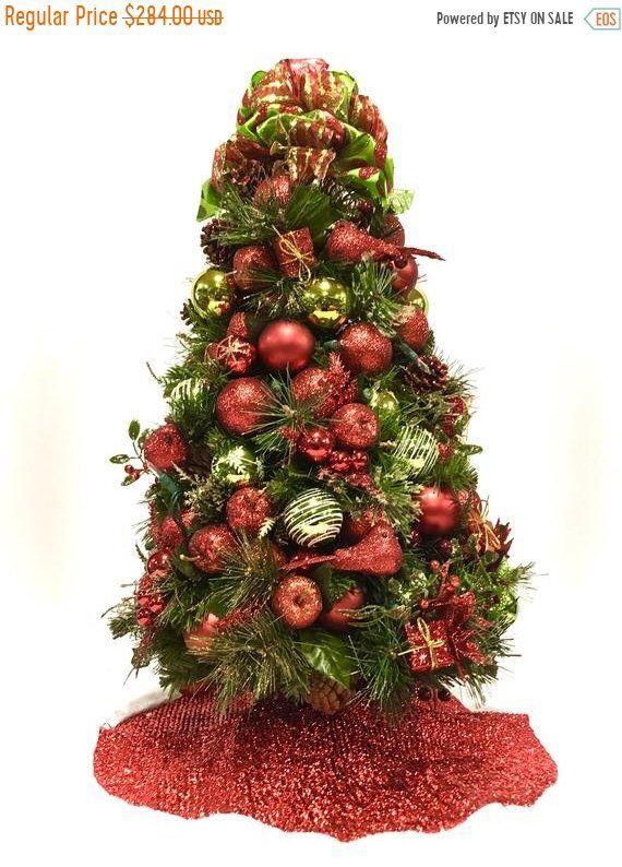 SEASONAL SALE Tabletop Christmas Tree Table Top Cardinal Christmas