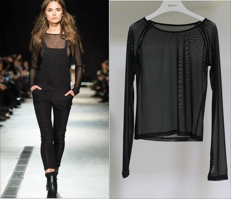 Mesh Top In Black From Customer's Fashion Show