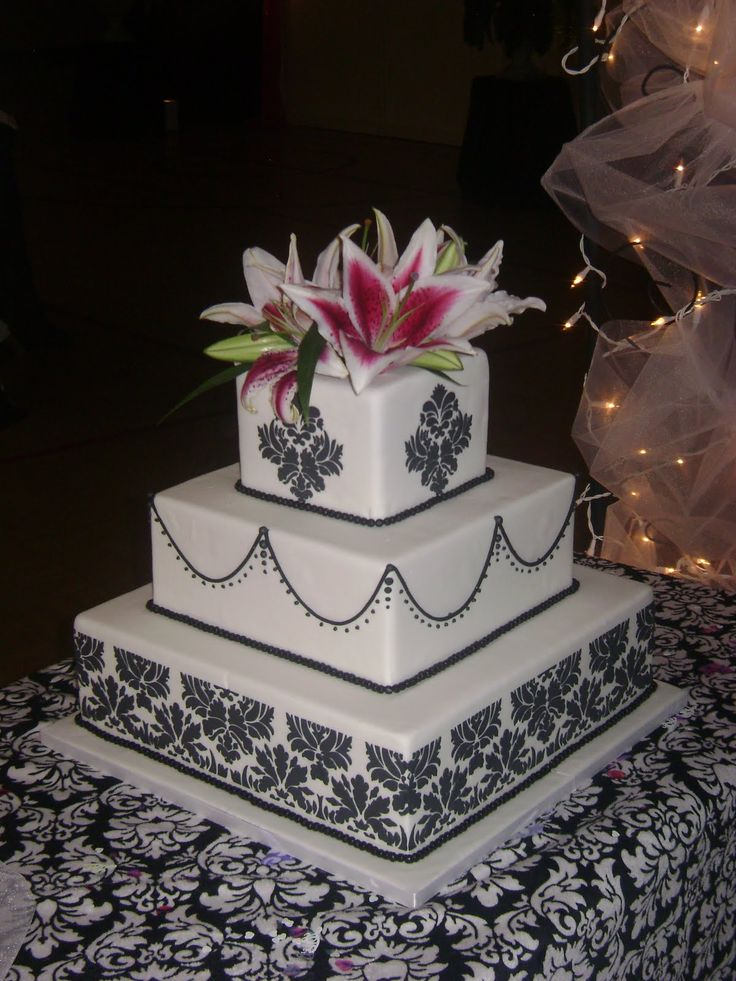 square black and white wedding cakes pictures%0A Black and white elegant unique tiered modern wedding cake designs and ideas   The best unique creative wedding  baby  bridal shower and birthday cake