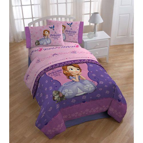 Disney Sofia the First Polyester Bedding Sheet Set: Kids' Rooms : Walmart.com