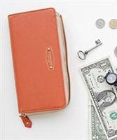 Block color wallet in orange from lovemisseve.com