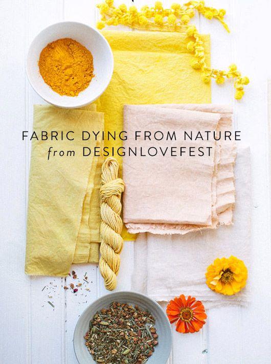 DDIY. / natural fabric dye tutorial via @designlovefest / @sfgirlbybay