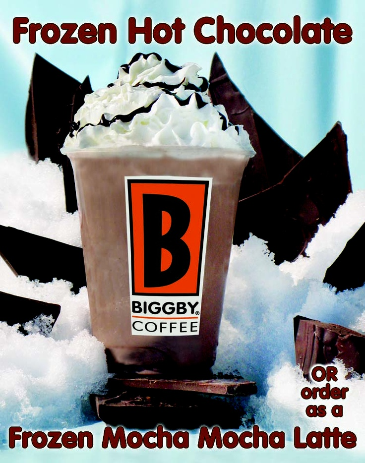 Had this for the first time the other day.. DELISH!  BIGGBY COFFEE Frozen Hot Chocolate
