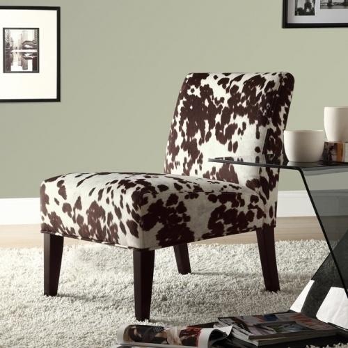 Decor Cowhide Fabric Chair