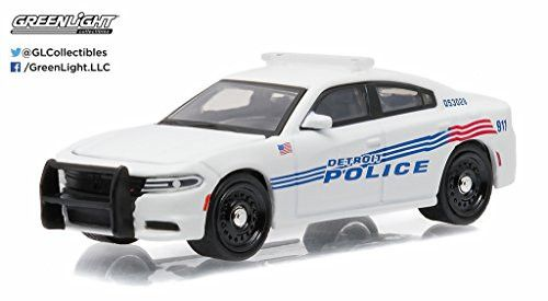 2015 Dodge Charger Pursuit Detroit Police Car 1/64 by Greenlight 42770 D
