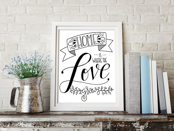 Home Is Where The Love Grows Home Is Where Your Family Is Its Where You Live Together Laugh Together Love Together And Little Designs Choose Happy Frame