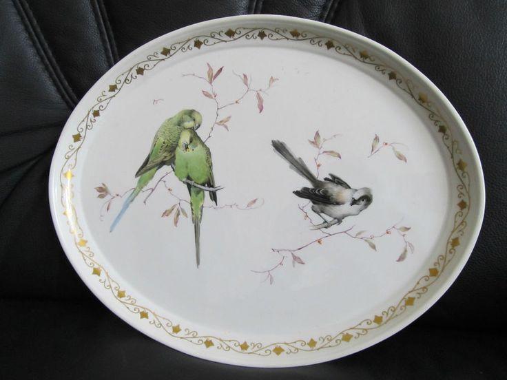 1 KPM Berlin Tablett mit Vogelmalerei Sehr Selten! in Antiquitäten & Kunst, Porzellan & Keramik, Porzellan | eBay