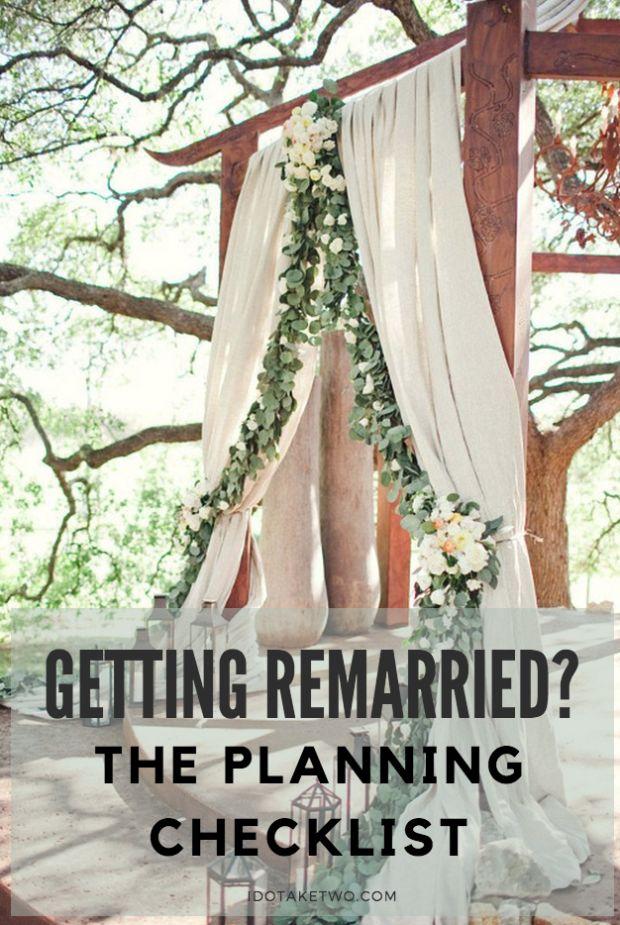 second wedding planning checklist