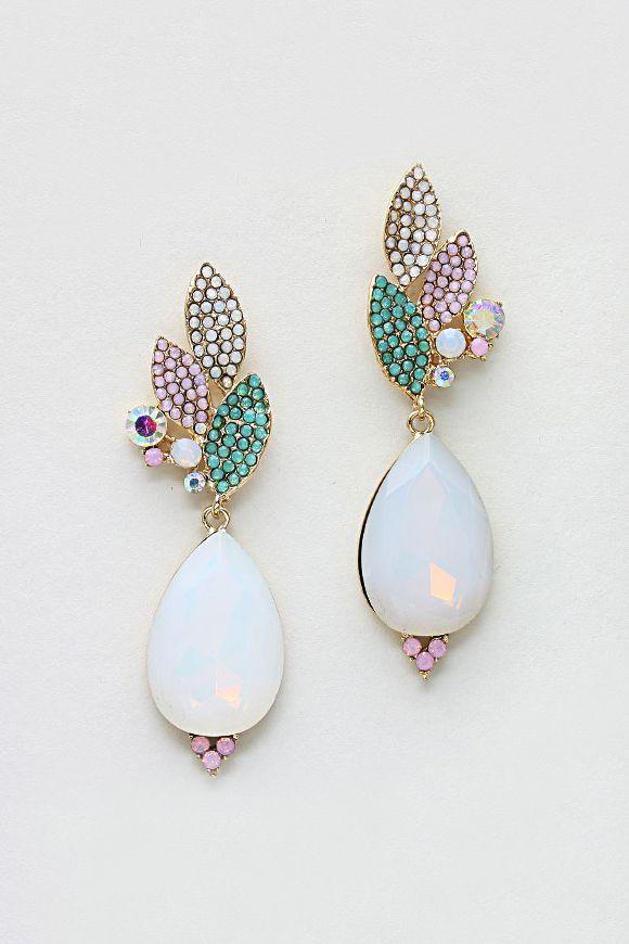 Sheer Perfection: Crystal Grace Earrings in Opalescence