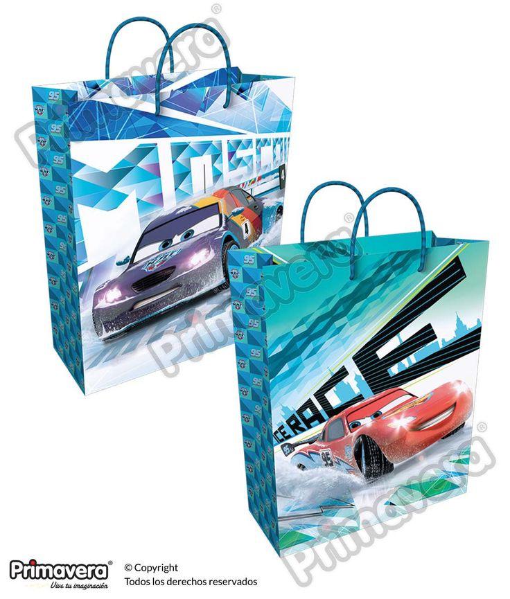 Bolsa Regalo Cars http://envoltura.papelesprimavera.com/product/bolsa-regalo-personajes-cars-4/