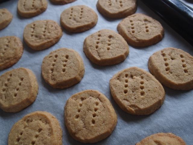 Dorie Greenspan's brown sugar & pecan shortbread cookies