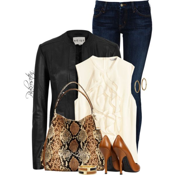 A fashion look from September 2014 featuring H&M blouses, Reiss jackets y Koral jeans. Browse and shop related looks.