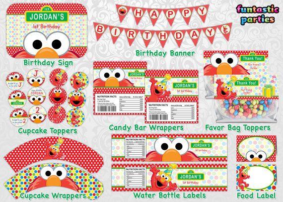 Free Elmo Birthday Party Printable Decorations