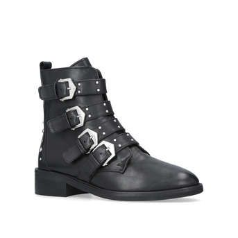 Scant Black Flat Ankle Boots from Carvela Kurt Geiger