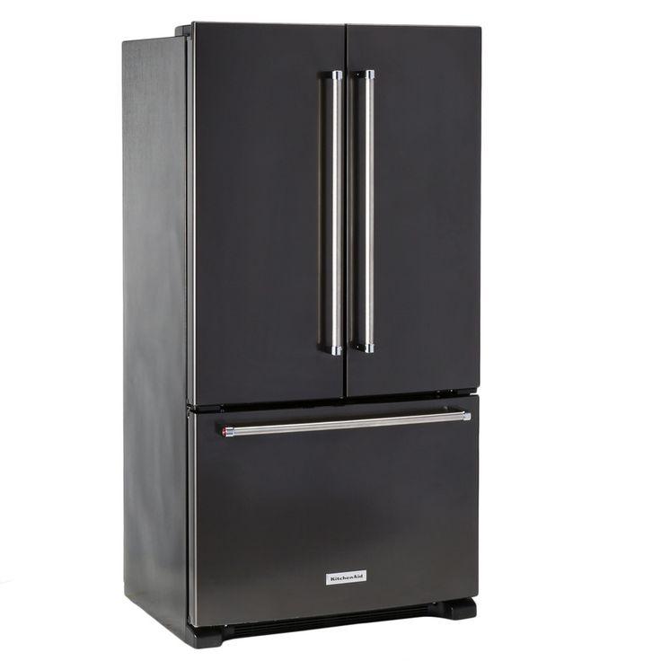 Kitchenaid black stainless steel counterdepth fridge
