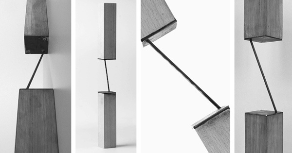 furniture connection _ oak and stainless steel