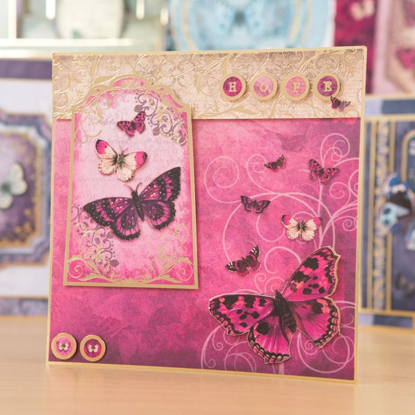 Hunkydory Flight of the Butterflies Jeweled Edition Luxury Card Collection with…
