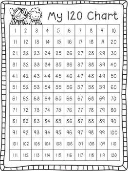 Student 120 Number Chart {Freebie!}