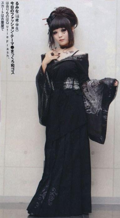 Pure-black Wa-goth (Japanese Goth) oooh! this is soooo perfect!!!