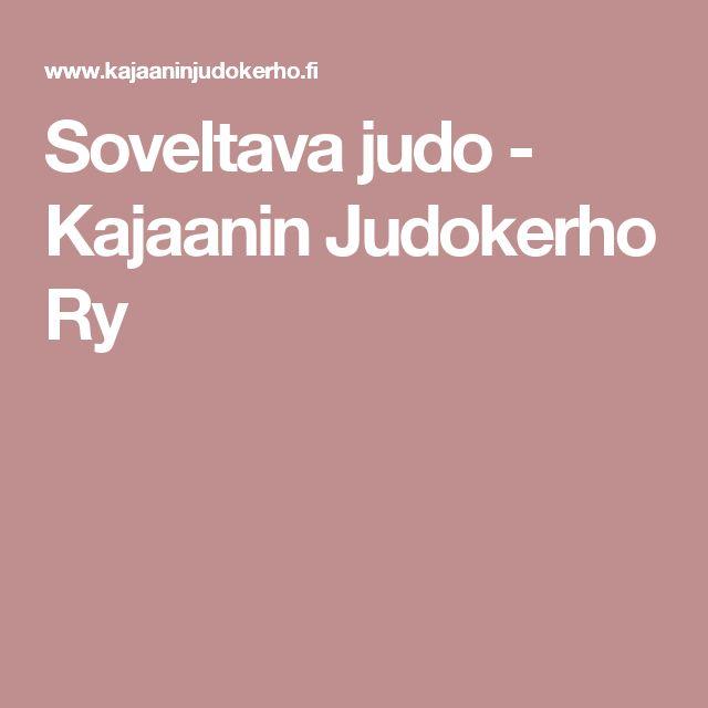 Soveltava judo - Kajaanin Judokerho Ry