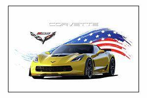 Corvette America Victory Yellow Art Print