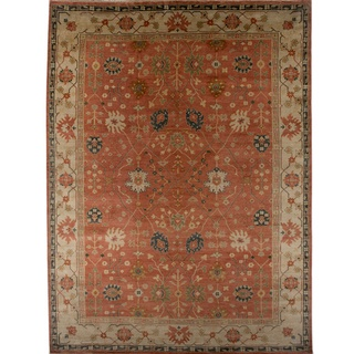 @Overstock.com - Jewel tones prevail in this rug with splashes of vivid color bringing each design to life. Constructed by master artisans steeped in tradition, this hand-crafted rug is a treasure to behold.http://www.overstock.com/Home-Garden/Hand-knotted-Oriental-Rust-Wool-Area-Rug-9-x-12/7329748/product.html?CID=214117 $1,457.99
