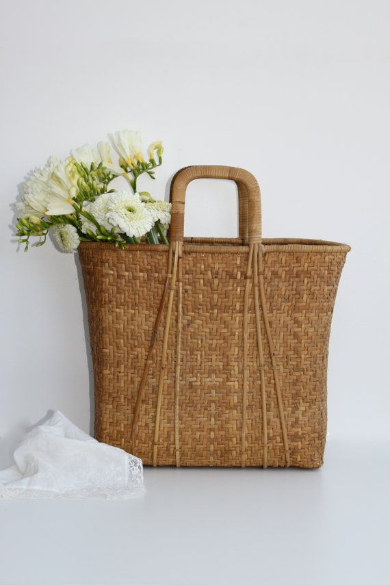 Woven Basket Pinterest : Best images about basket bags on woven
