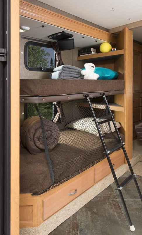 25 beautiful class a rv ideas on pinterest van for Rv loft bed
