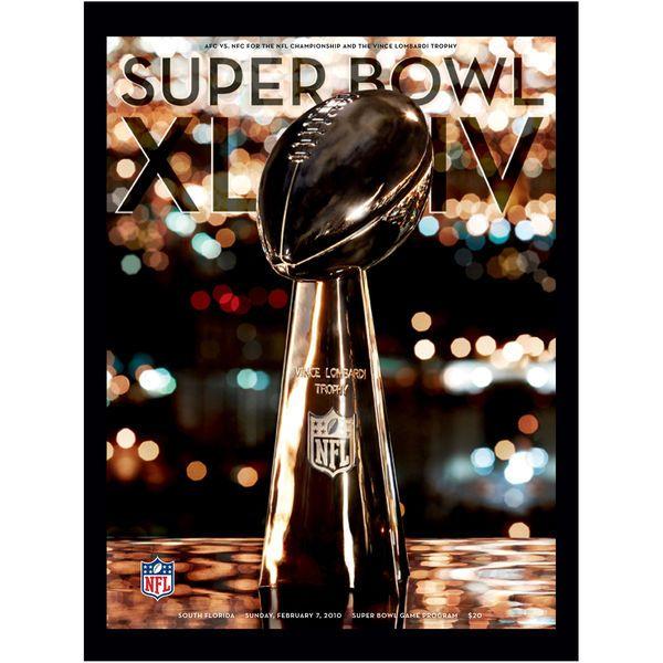 "Fanatics Authentic 2010 Saints vs. Colts 36"" x 48"" Canvas Super Bowl XLIV Program - $179.99"